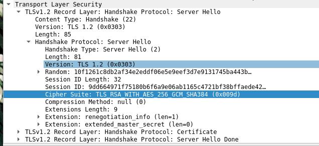 Wireshark Server Hello